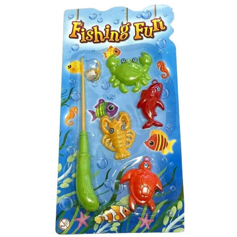 Small Hooked Fish & Rod Set Fishing Game